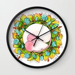 Autumn Cozy on Sweet Pea Wall Clock