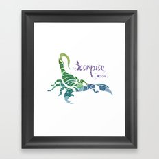 Scorpion Mood  Framed Art Print
