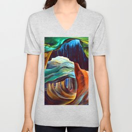 Emily Carr Forest in British Columbia Unisex V-Neck