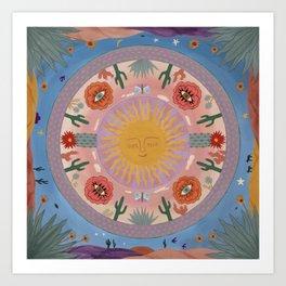 Desert Mandala Art Print