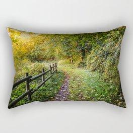 An Autumn Walk Rectangular Pillow