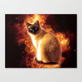 Flame Cat Canvas Print