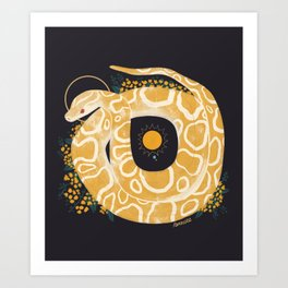 Familiar - Burmese Python Art Print