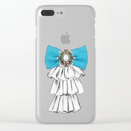 Versailles Style Riffle Jabot Painting (bow tie) T-shirt Clear iPhone Case