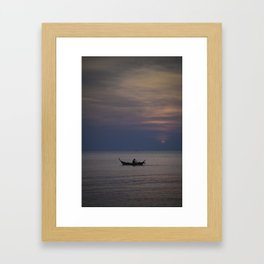 Rowing into the sunset II Framed Art Print