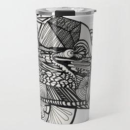 Pilar of Zentangle Travel Mug