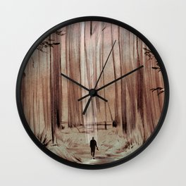 Redwood Forest Wall Clock