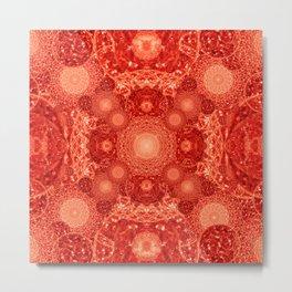 Volcanic Mandala Metal Print