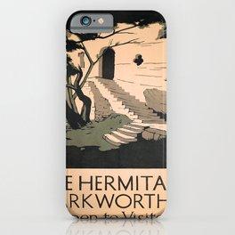 retro iconic Hermitage Warkworth poster iPhone Case