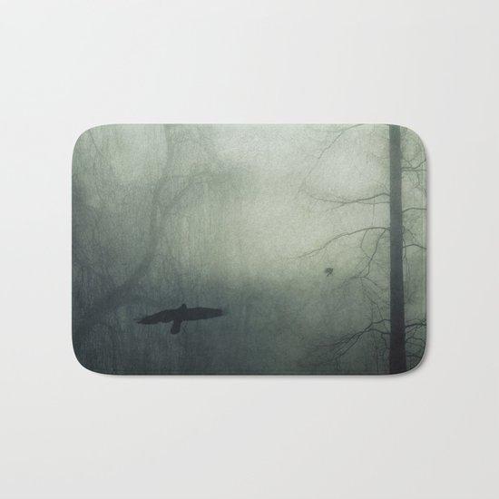 world wrapped in mist Bath Mat