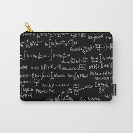 Math Equations // Black Carry-All Pouch