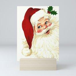 Cute laughing vintage santa Mini Art Print