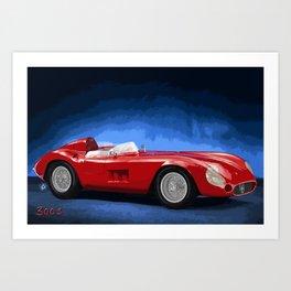 Classic Italian Race Car 1956 Art Print