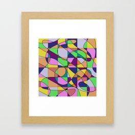 Pastel Pieces Framed Art Print