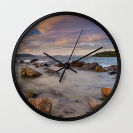 Colourful Ocean Scene Wall Clock