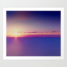 Sunset on the Atlantic Ocean Art Print