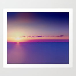 #Sunset on the #Atlantic #Ocean pastel #colors Art Print