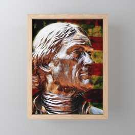 Thomas Jefferson Statue Framed Mini Art Print