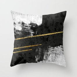 Gilded Grit Throw Pillow