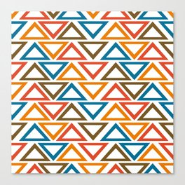 ColorFull Triangle Seamless Pattern Canvas Print