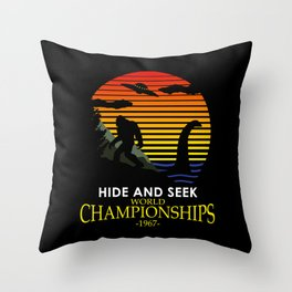 Hide And Seek World Championships 1967 Throw Pillow