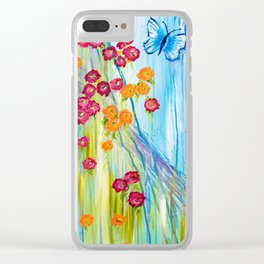 Beautiful Blossoms Clear iPhone Case