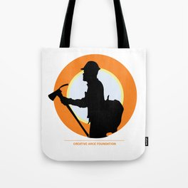 Creative Acre Foundation (CAF) Support poster Tote Bag