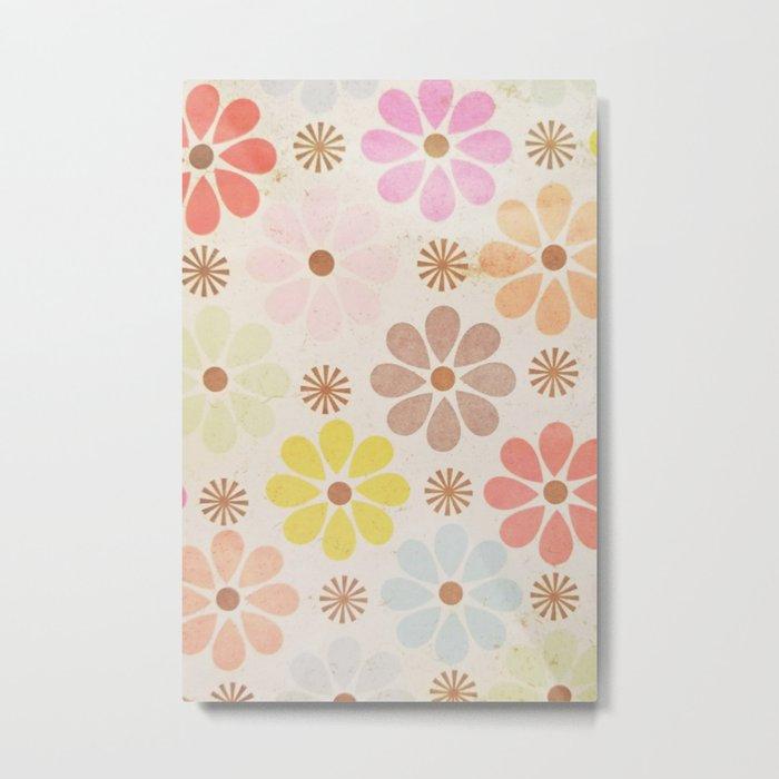 Flower Daisy Pattern Metal Print