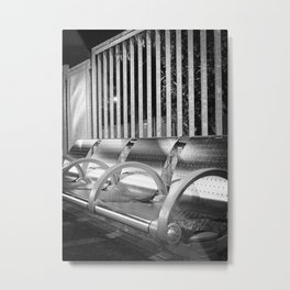 Shiny Seats Metal Print