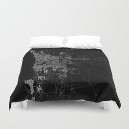 Perth map Australia Duvet Cover