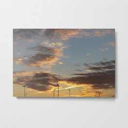 Sunset at the Edge of Town Metal Print