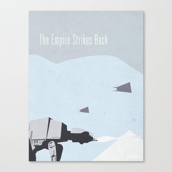 Empire Strikes Back movie poster. Canvas Print