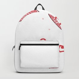 Funny Soccer Player Valantines Day Backpack