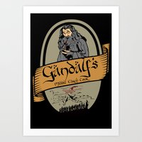 middle earth Art Prints featuring Gandalf's Middle earth tour by SuperEdu