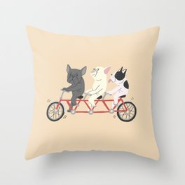 tandem bike Throw Pillow