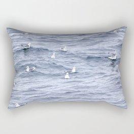Seagulls Swimming Rectangular Pillow