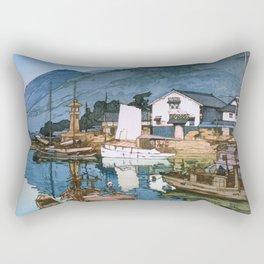 Yoshida Hiroshi - The Inland Sea Series, Second Series - Tomonoura Harbor  Rectangular Pillow