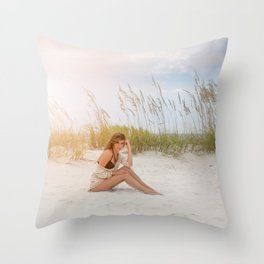 Summer Beaching Throw Pillow