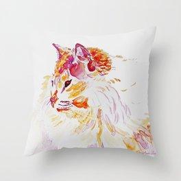 Siamese Kitty Cat watercolour by CheyAnne Sexton Throw Pillow