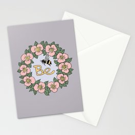BE - floral wreath Stationery Cards