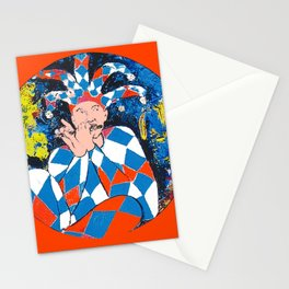 Harleqin plays his Flute           by Kay Lipton Stationery Cards