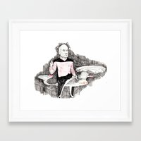 picard Framed Art Prints featuring Picard by withapencilinhand