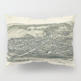 Aerial View of St. Johnsville, New York (1890) Pillow Sham