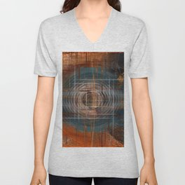 Unoccupied Digital Landscape Unisex V-Neck