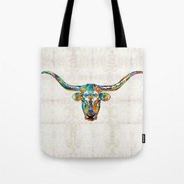 Colorful Longhorn Art By Sharon Cummings Tote Bag