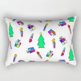 Ho Ho Ho Merry Christmas colorful illustration Rectangular Pillow