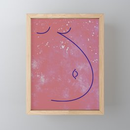 Awakening Mother - Pink Space Line Art Framed Mini Art Print