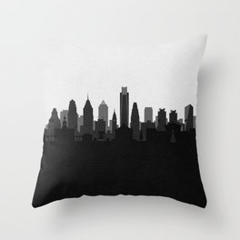 City Skylines: Philadelphia (Alternative) Throw Pillow