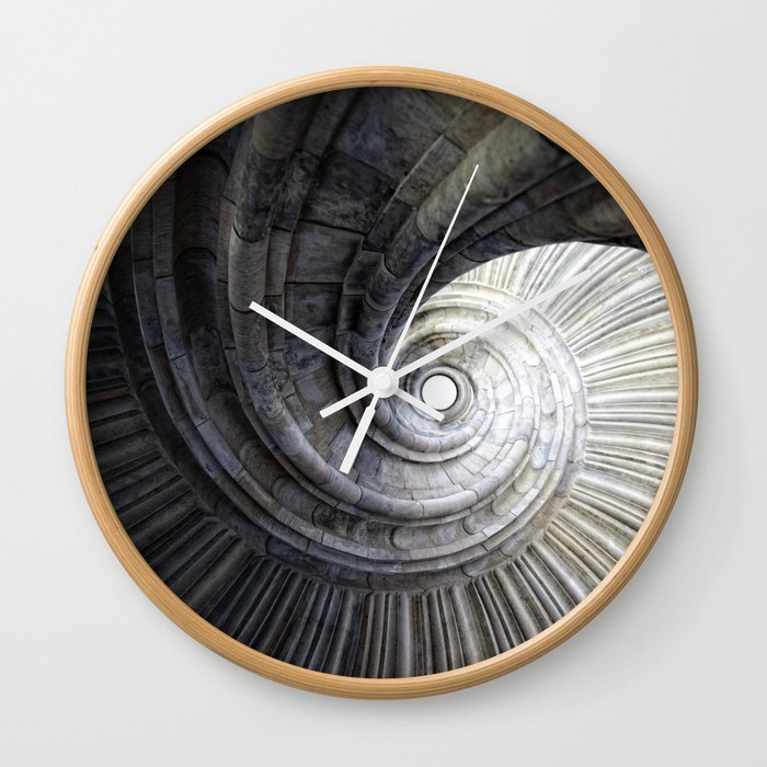 Sand stone spiral staircase Wall Clock by falkofollert
