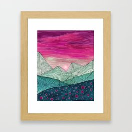 Lines in the mountains XIV Framed Art Print